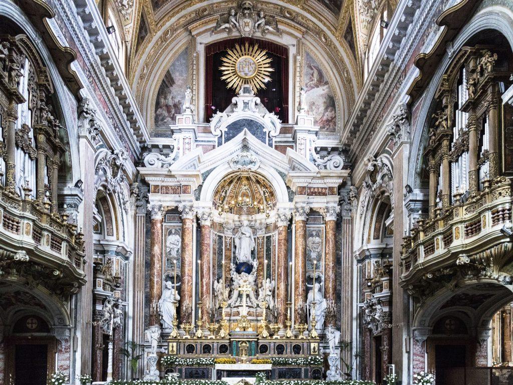 Chiesa Gesù Nuovo Napoli dettaglio