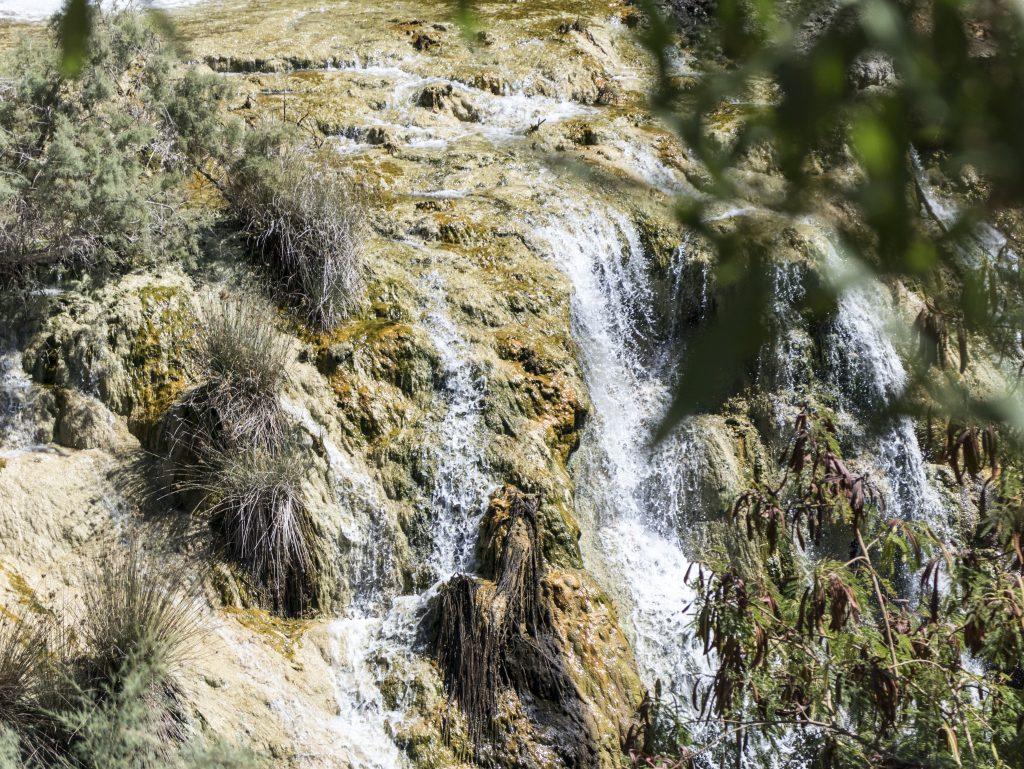 dettaglio cascata Ma'in Hot Springs