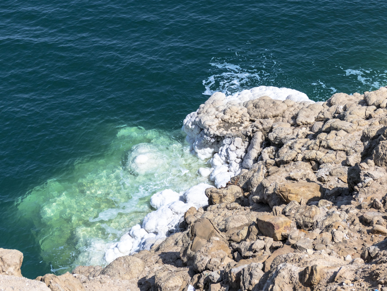 lo spettacolo del sale del mar morto