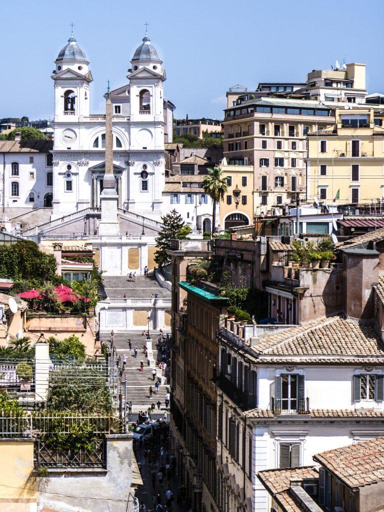 vista piazza di spagna hotel portrait roma