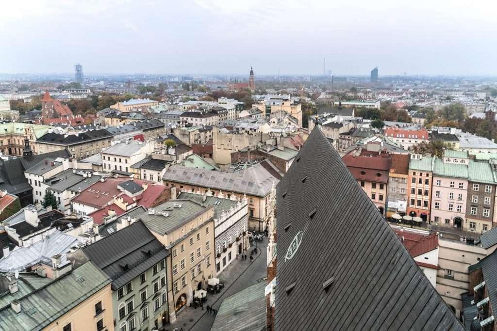 CRACOVIA - LA BASILICA DI SANTA MARIA MAGGIORE la vista dalla torre