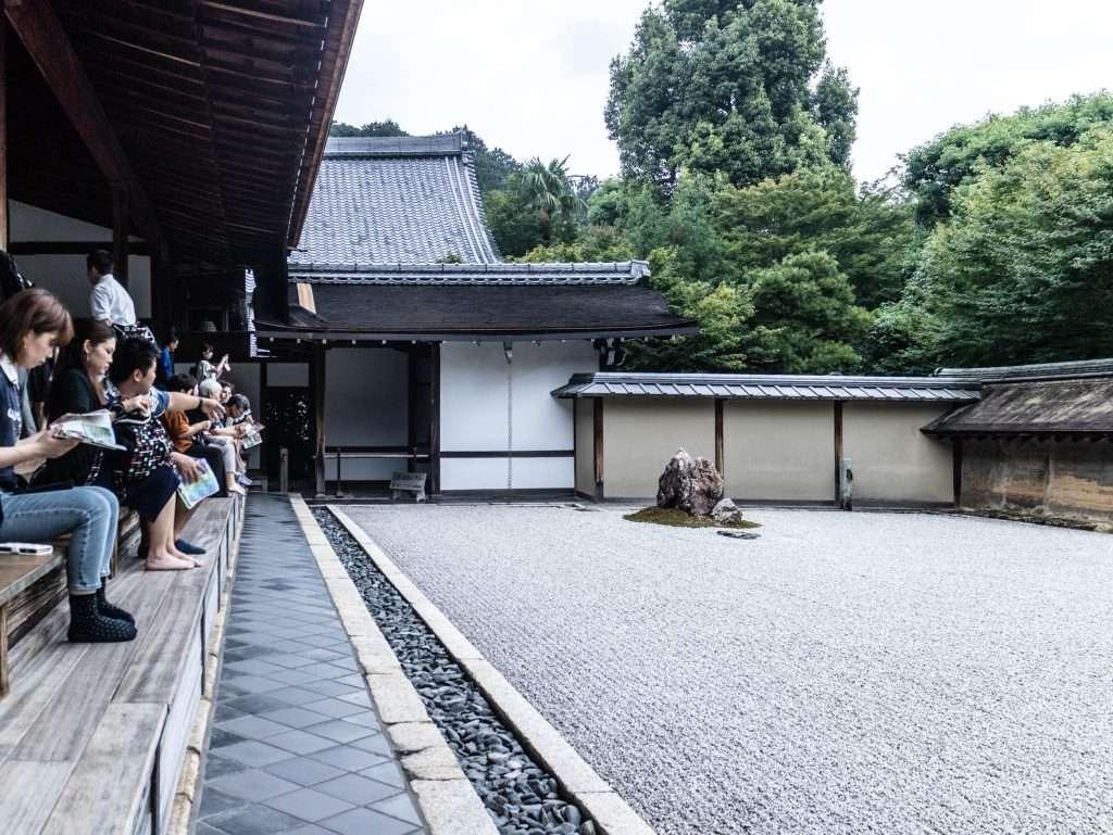 Kyoto - Ryōan-ji il paesaggio asciutto