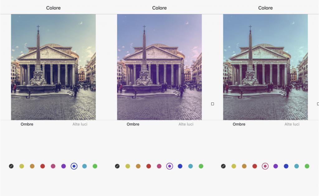 I tool di Instagram - Alte luci, Ombre, Colore e Sfumatura