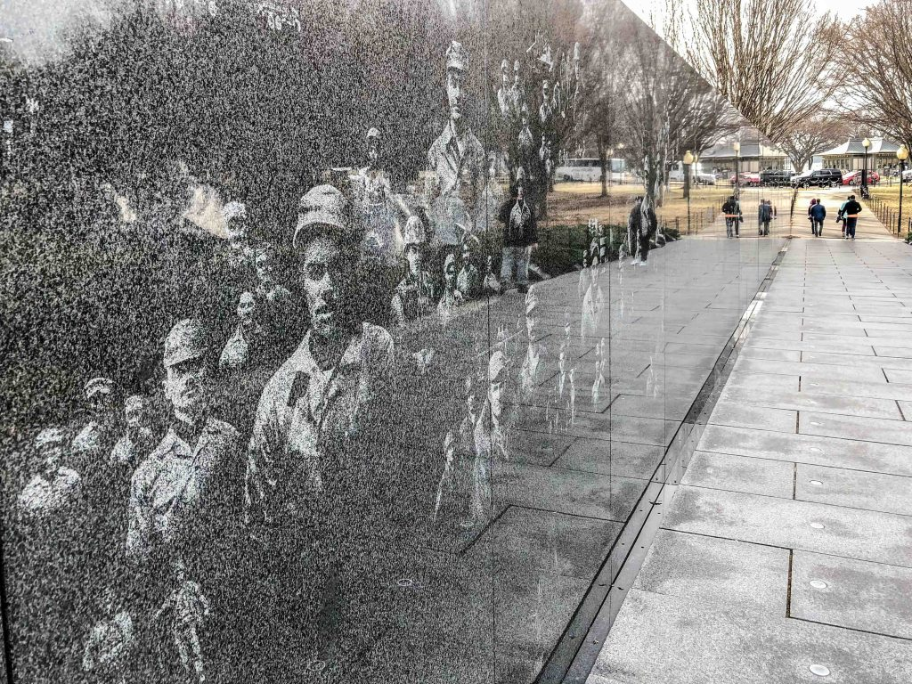 THE NATIONAL MALL -IL MEMORIALE DELLA GUERRA DI COREA