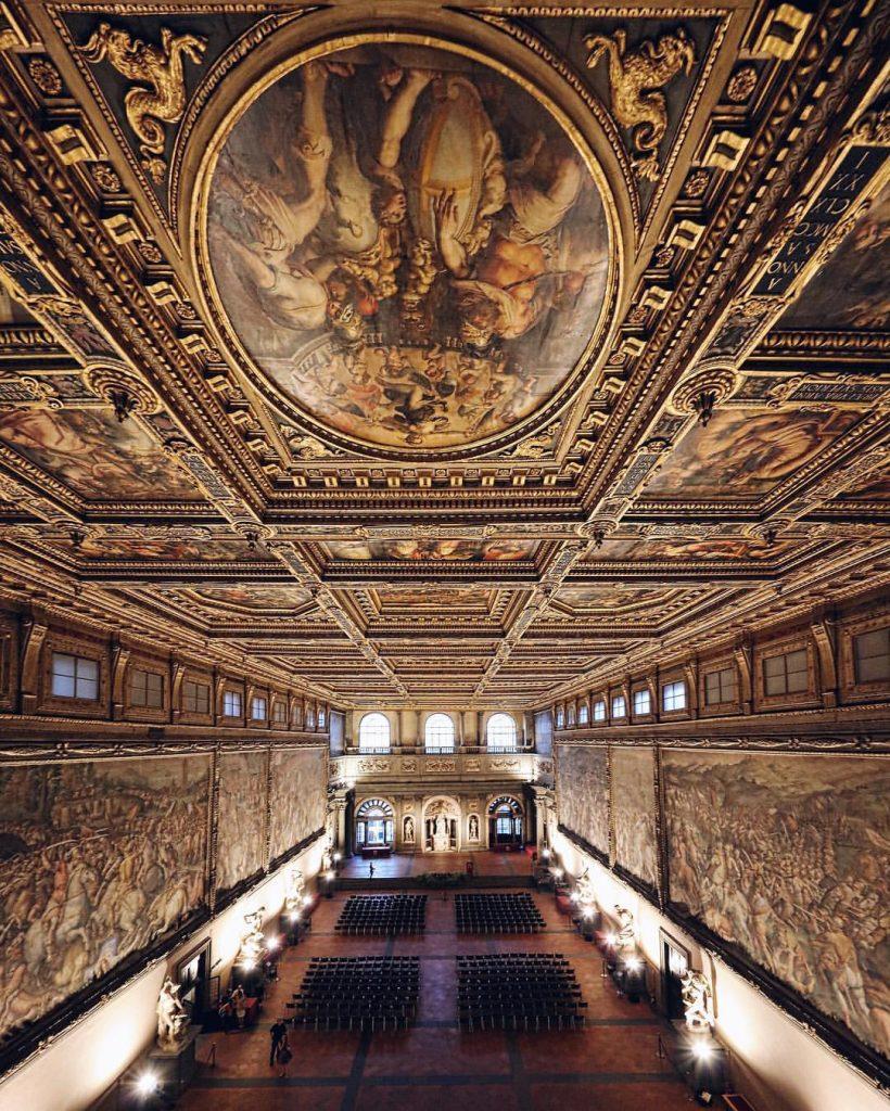 48 ore a Firenze -Palazzo Vecchio salone dei 500