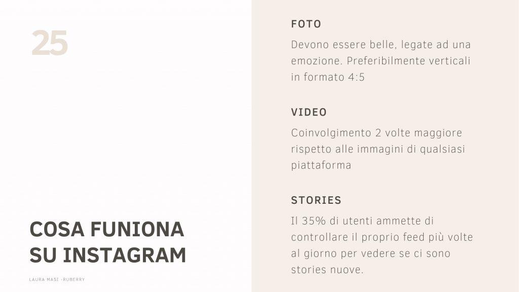 Slides corso completo su come avere un account Instagram professionale